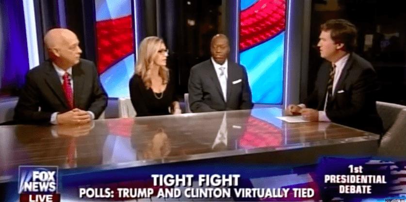 Lauren Leader Chivee on Fox News debating Scott Rasmussen and John Burnett about Clinton and Trump